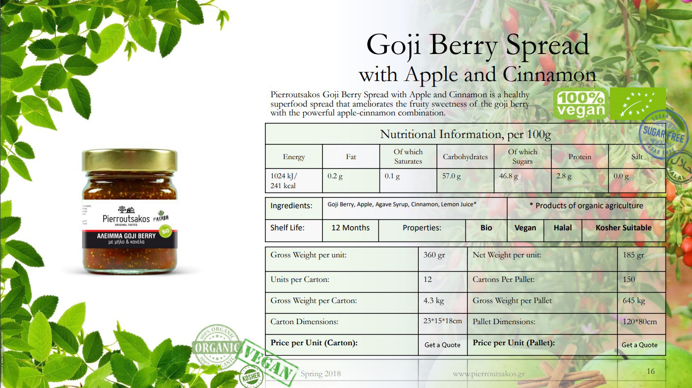 Goji Berry Spread with Apple and Cinnamon Image