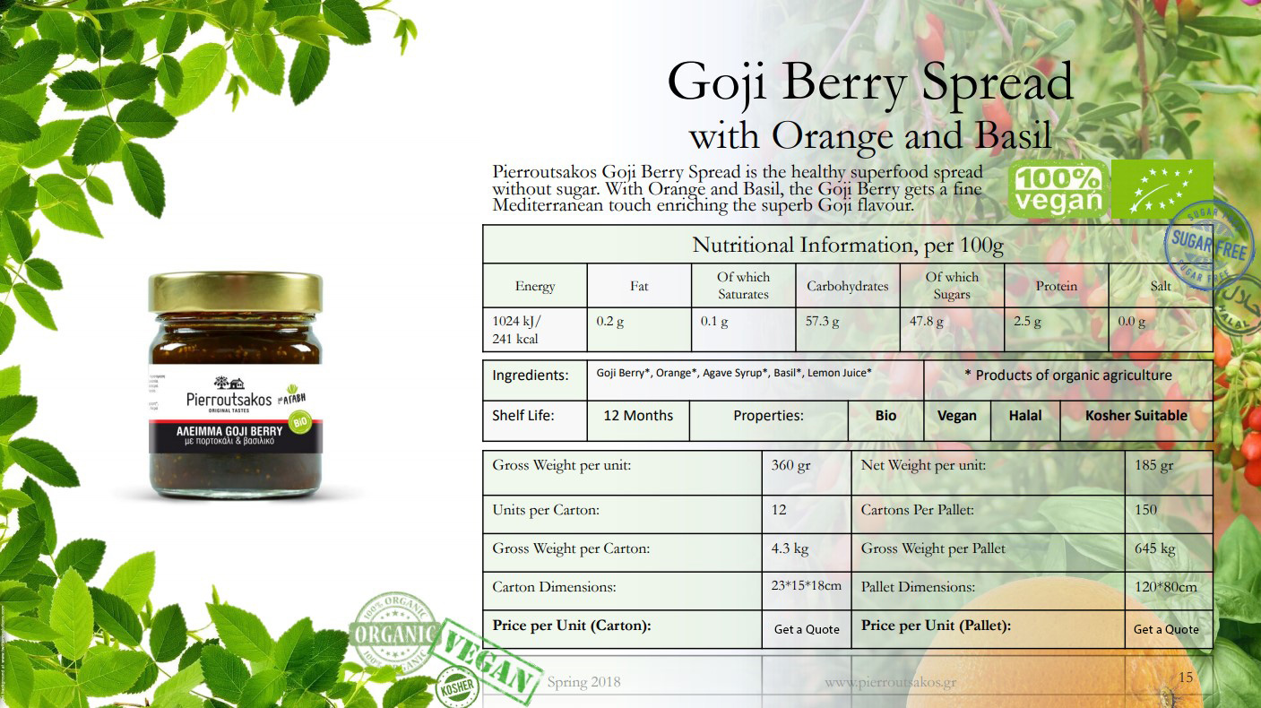 Goji Berry Spread with Orange and Basil Image